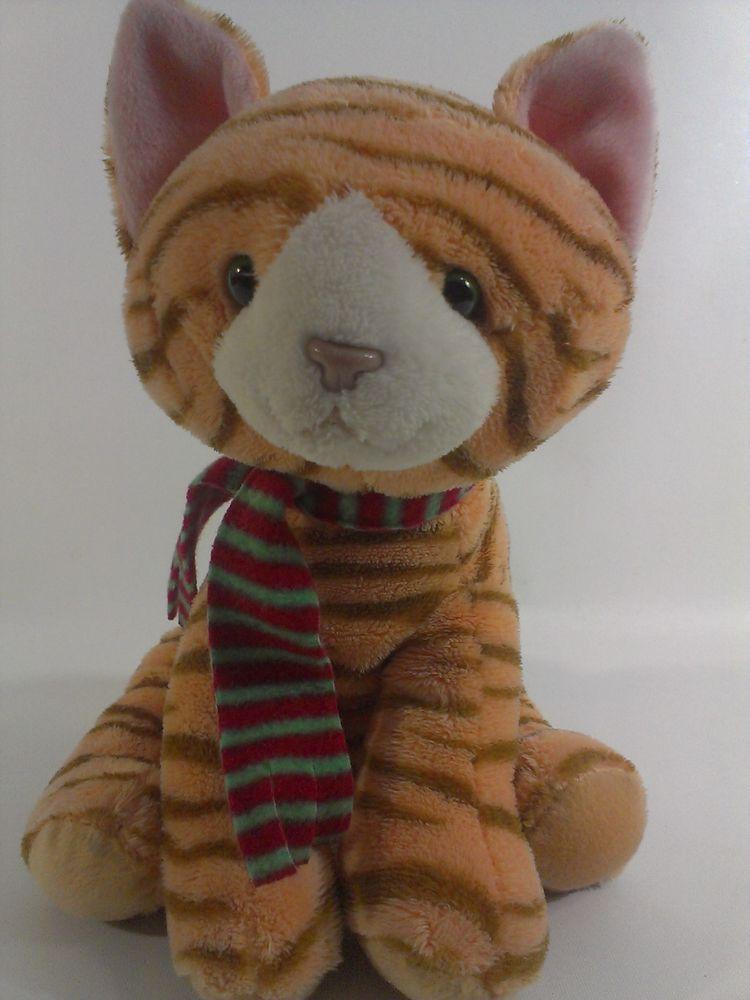 plush orange tabby cat Stuffed Animal Soft stuffed