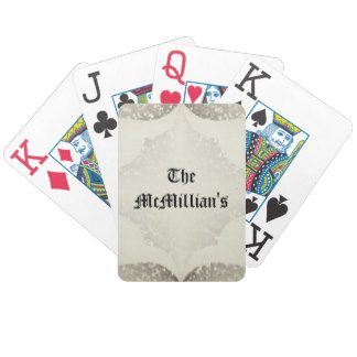 Wedding-Gift's_Ecru_Template_Name Bicycle Playing Cards
