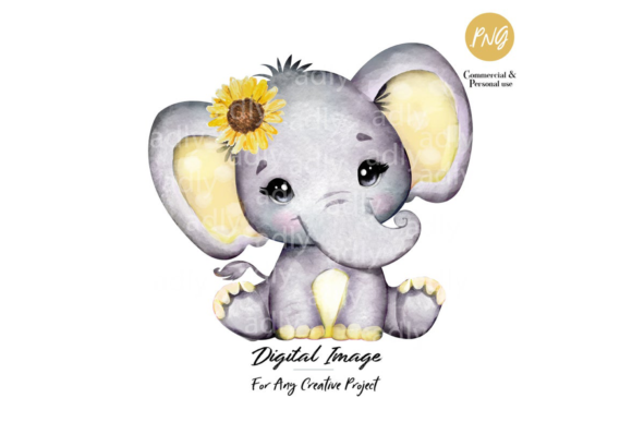 Sunflower Elephant Watercolor Clip Art Graphic By Adlydigital Creative Fabrica In 2020 Watercolor Elephant Elephant Clip Art Baby Girl Elephant Download all 192 elephant graphics unlimited times with a single envato elements subscription. sunflower elephant watercolor clip art