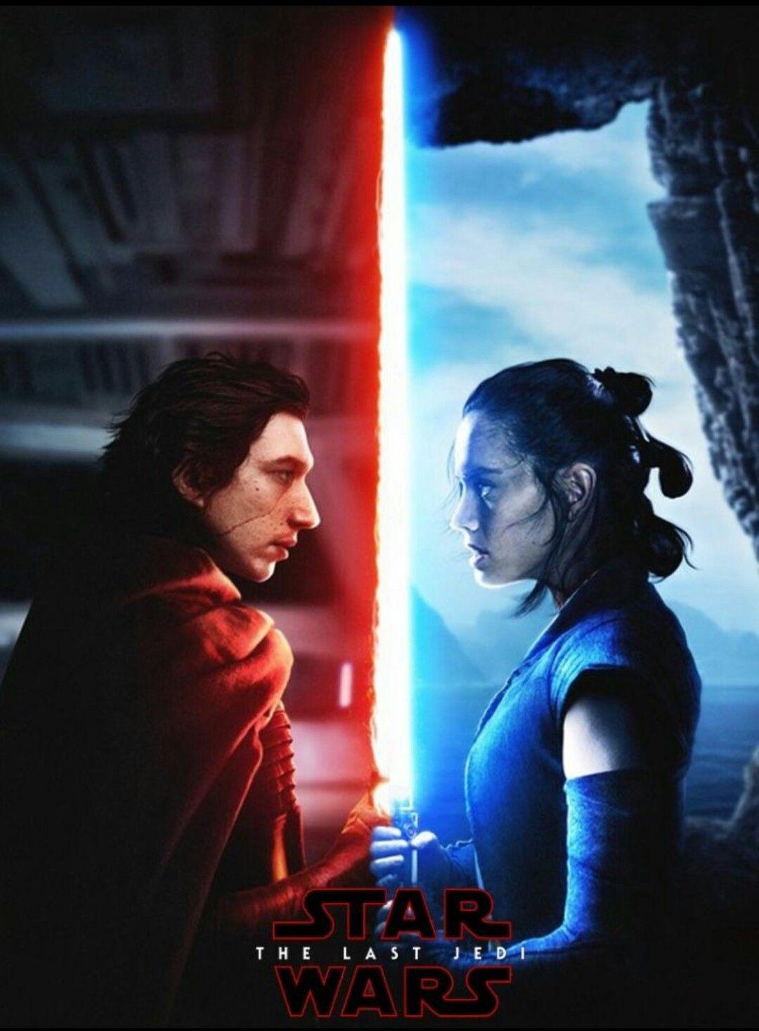 Kylo Ren Vs Rey Star Wars Movie Star Wars Art Star Wars Wallpaper