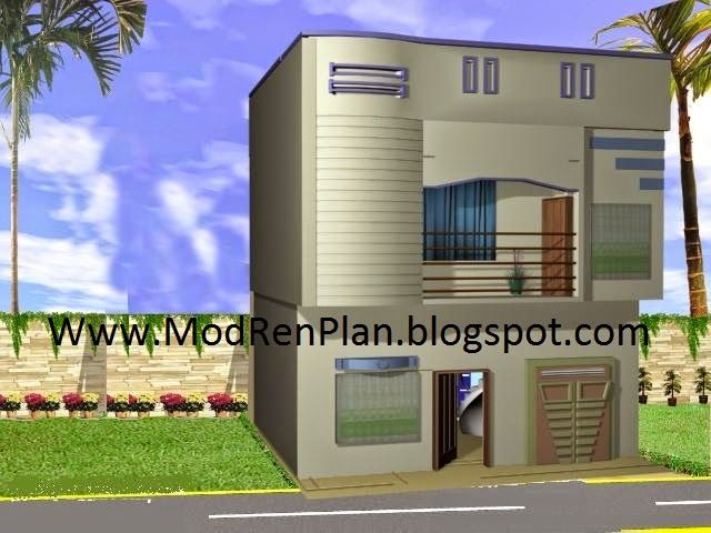 Front Design Of Small House In India Double Story Part - 21: Front-elevation-main-gate-wood-door-design.jpg (