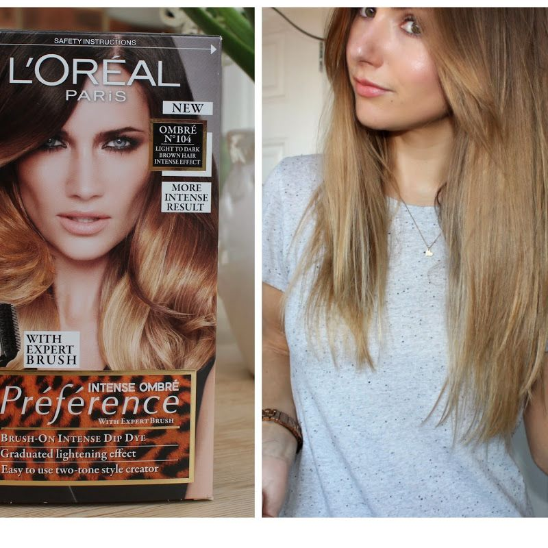 BEAUTY & LE CHIC: The Perfect DIY Dip Dye with L'Oreal Intense Ombrés Kit