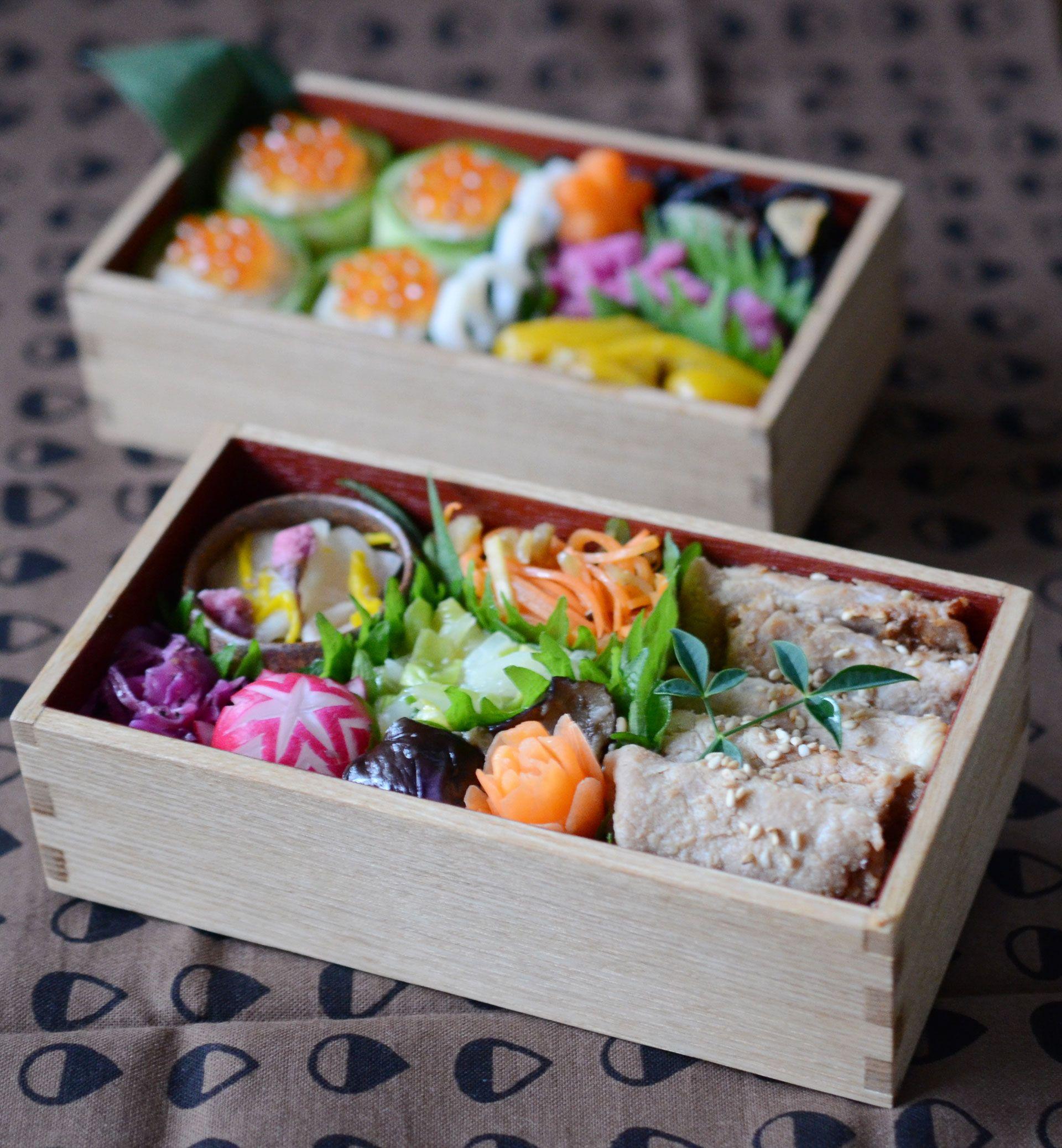 生姜焼き・茄子南蛮・白菜のエスニック風・人参のザーサイサラダ