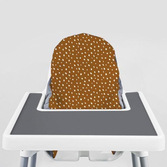 Fine Cream Beans On Orange Rust Ikea Antilop Highchair Cover Short Links Chair Design For Home Short Linksinfo