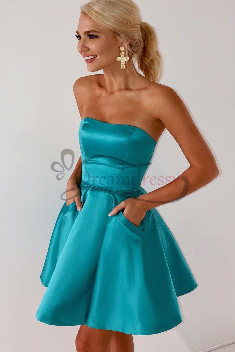 Sweetheart short turquoise homecoming dress tinasocialformal