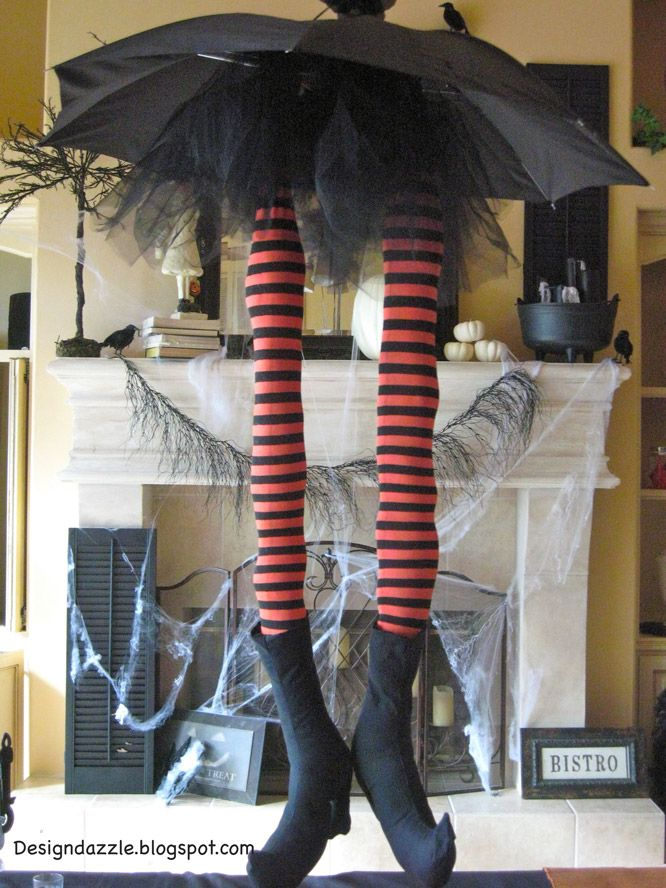 Witch legs Halloween Crafts Pinterest Witch legs, Witches and - decorate cubicle for halloween