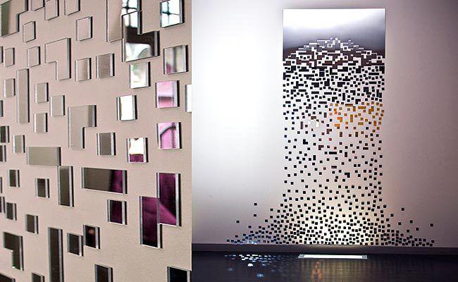 """Décoration murale miroir contemporain """" La Maison de Miss Sandra"""