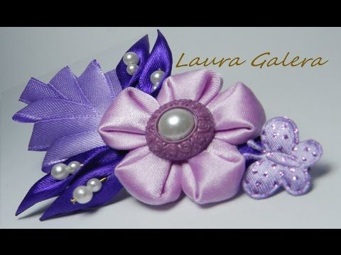 Kanzashi Pimpollo tutorial - YouTube