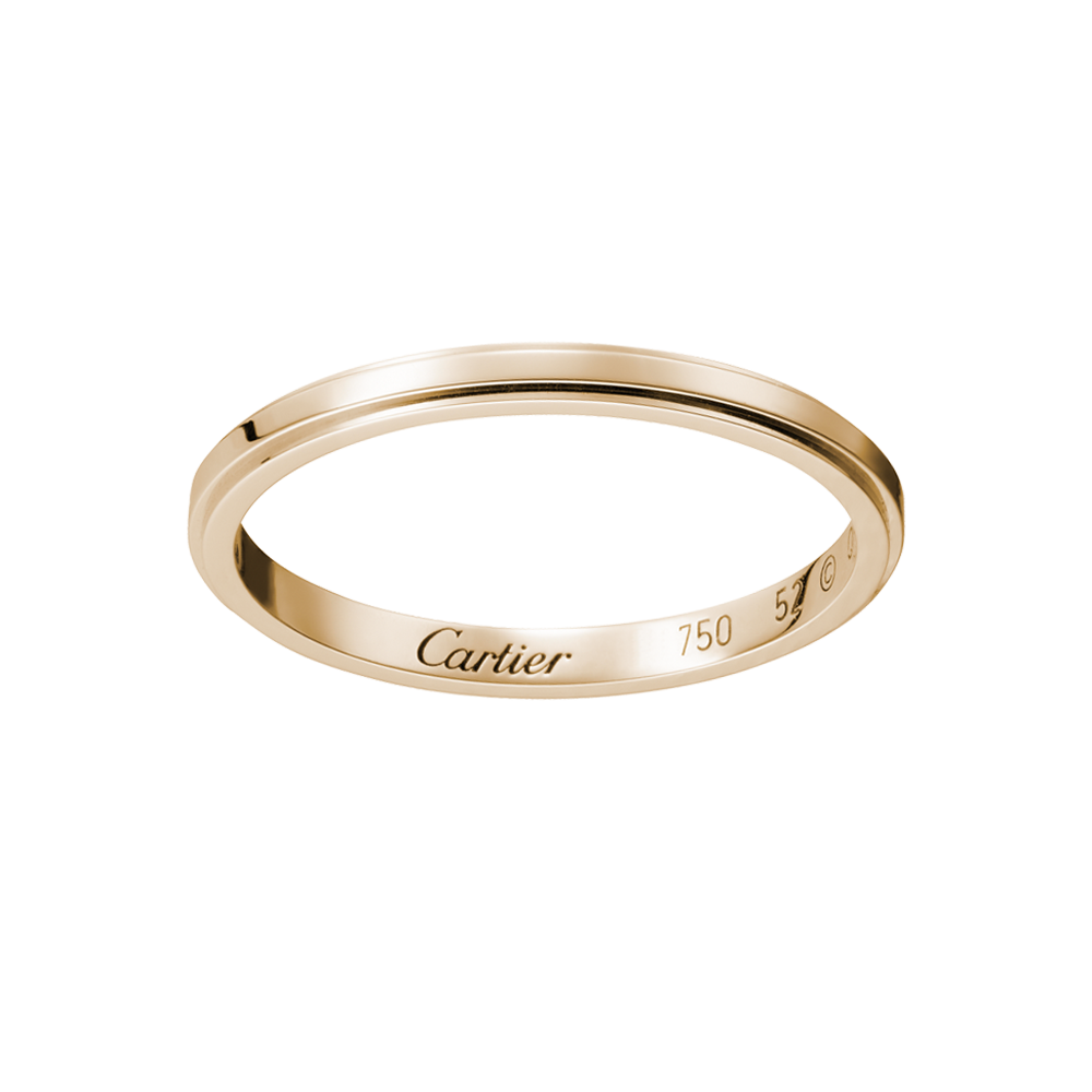 wedding rings and bands Cartier D Amour Wedding Band Rose Gold http