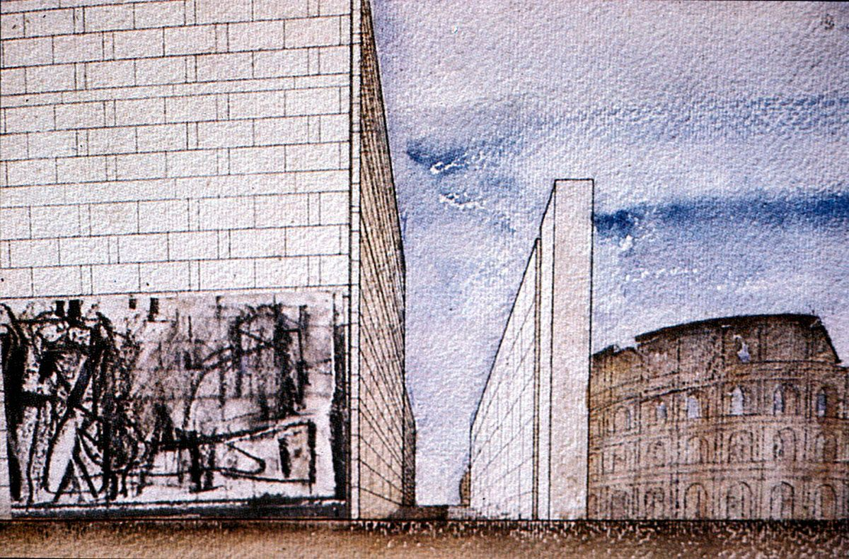 1938 Danteum Giuseppe Terragni Architecture Graphics Giuseppe Italian Art