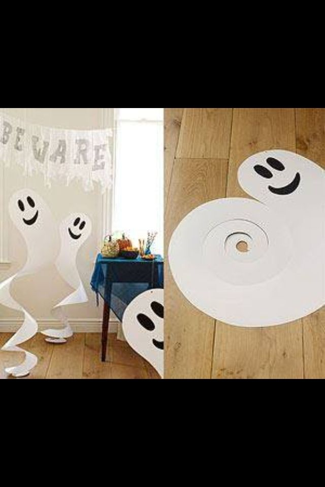Easy ghost decorations Halloween Pinterest Ghost decoration