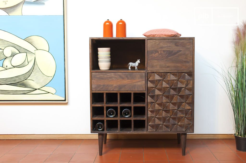 Bottle Cabinet Balkis Geometric Patterns Funky Furniture