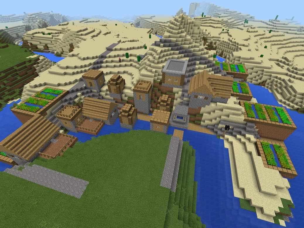 Minecraft Village Garden epic seed! seed is : village pls. (no caps, but with space, and no
