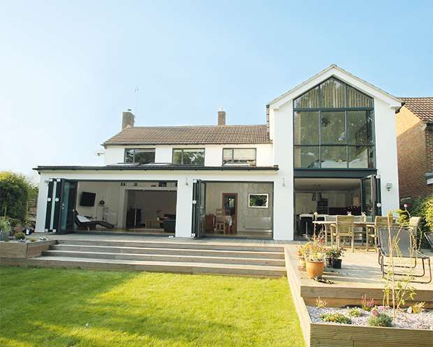 Two storey glass extension real homes houses for Country garden designs ireland