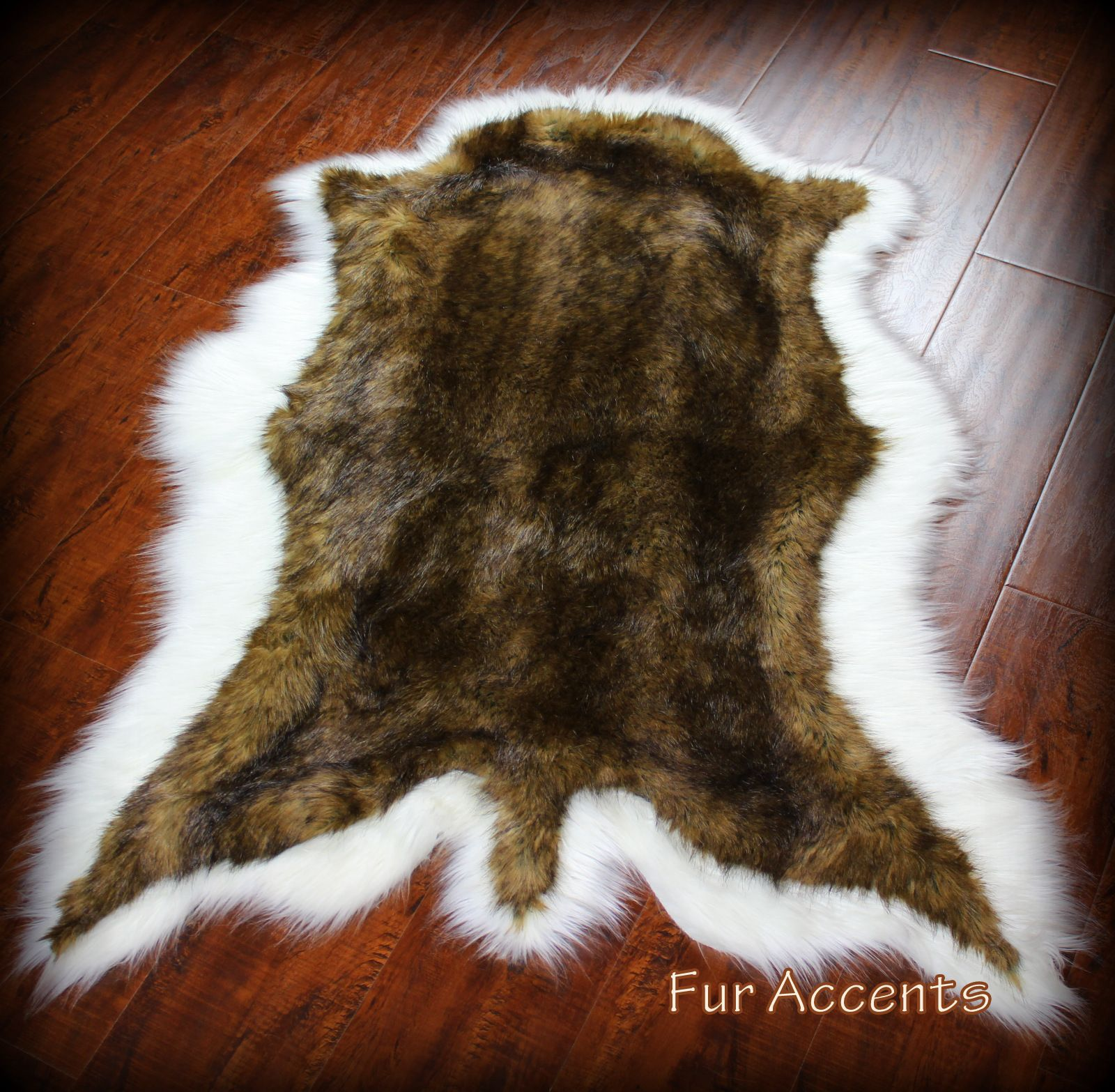 Exotic Bear Skin Rug Deer Hide Thick And Plush Animal Shape Pelt Faux Fur Realistic Friendly 4 New Sizes 2 Colors