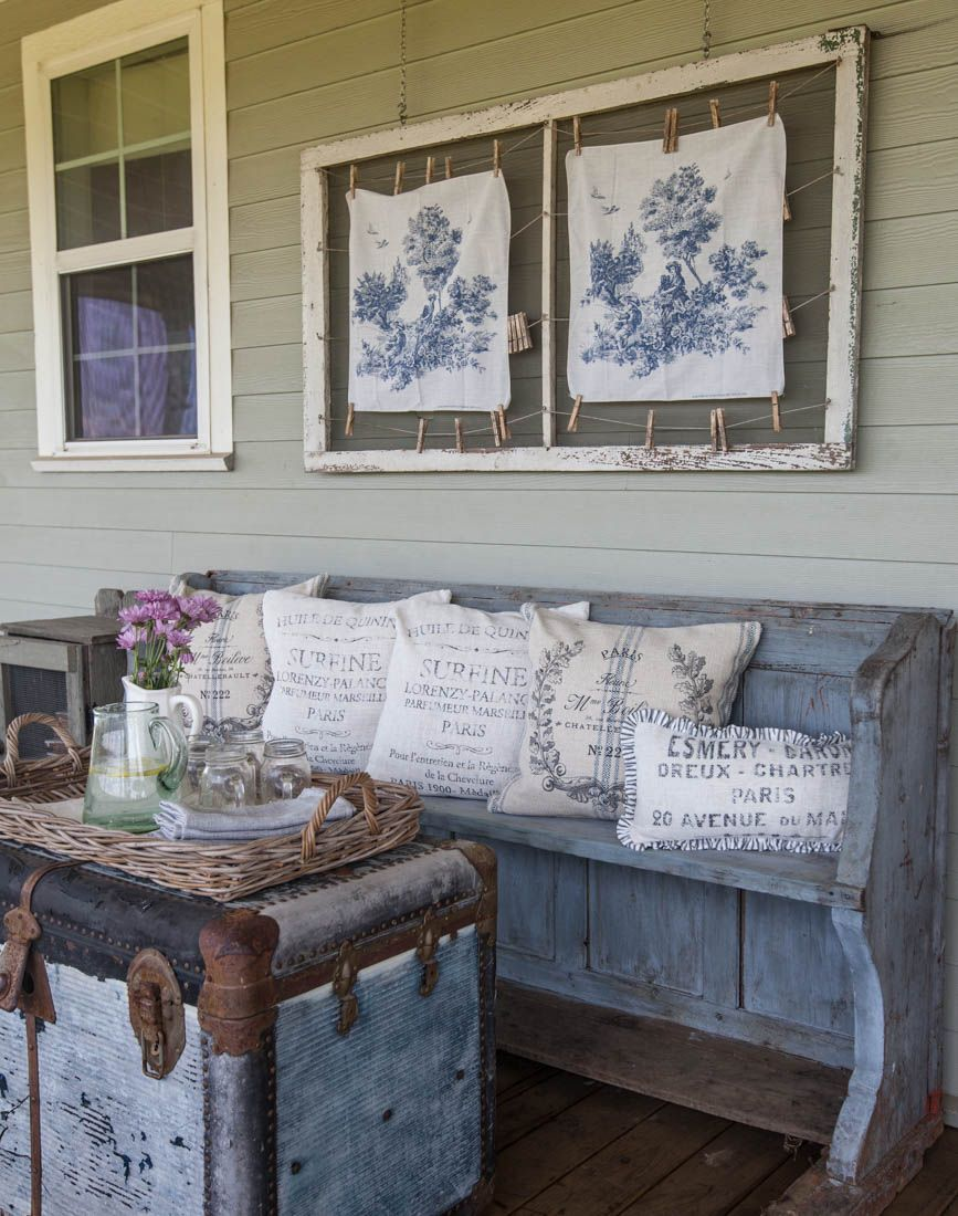 Decorating The Back Porch With Items From Our New Online Home Décor Cedar Hill Farmhouse Countryfrench Frenchcottage Cottage