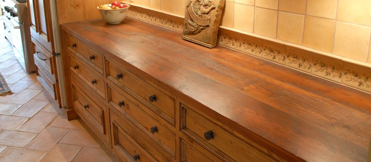 Reclaimed Antique Heart Pine Rustic Counter Top Wood Countertops Rustic Countertops Countertops