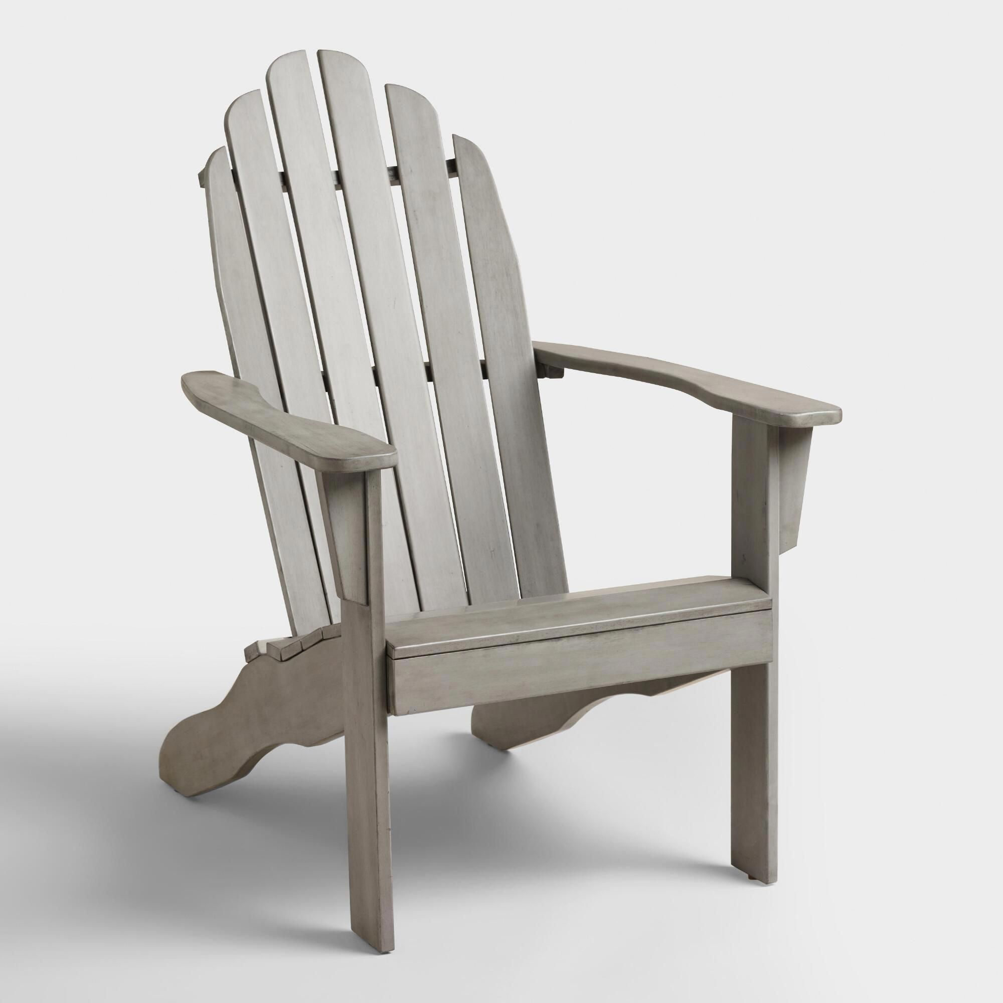 Gray wood adirondack outdoor patio chair by world market