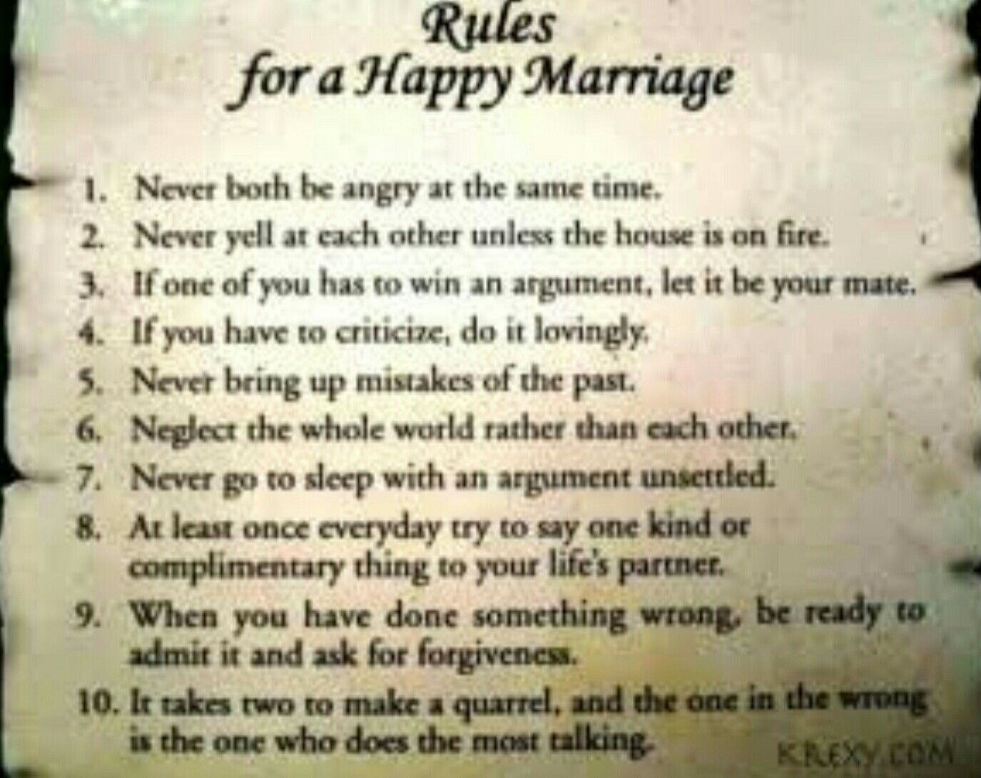 Rules For A Happy Marriage Love Quotes Funny Wedding Quotes Funny Newlywed Quotes