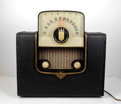 Vintage+Working+Zenith+Portable+Radio+Model+G+503+Tube+Radio+w/+A+C+Plug+1950