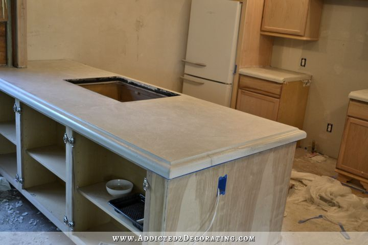 Finished Concrete Countertops Finishing Steps Total Cost Diy Concrete Countertops Concrete Countertops Diy Countertops