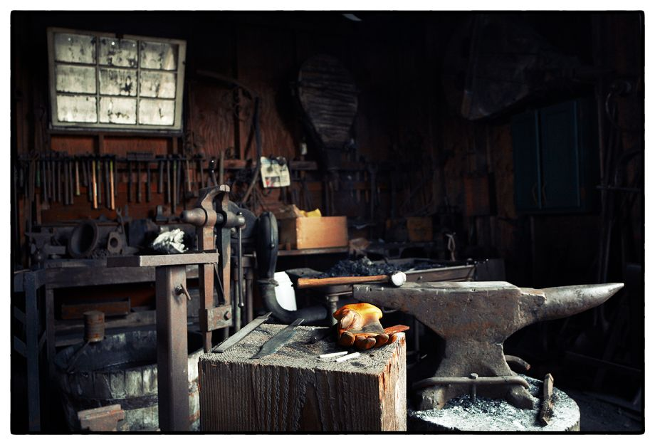Blacksmithin stuff... el amor de la tecnica, el taller