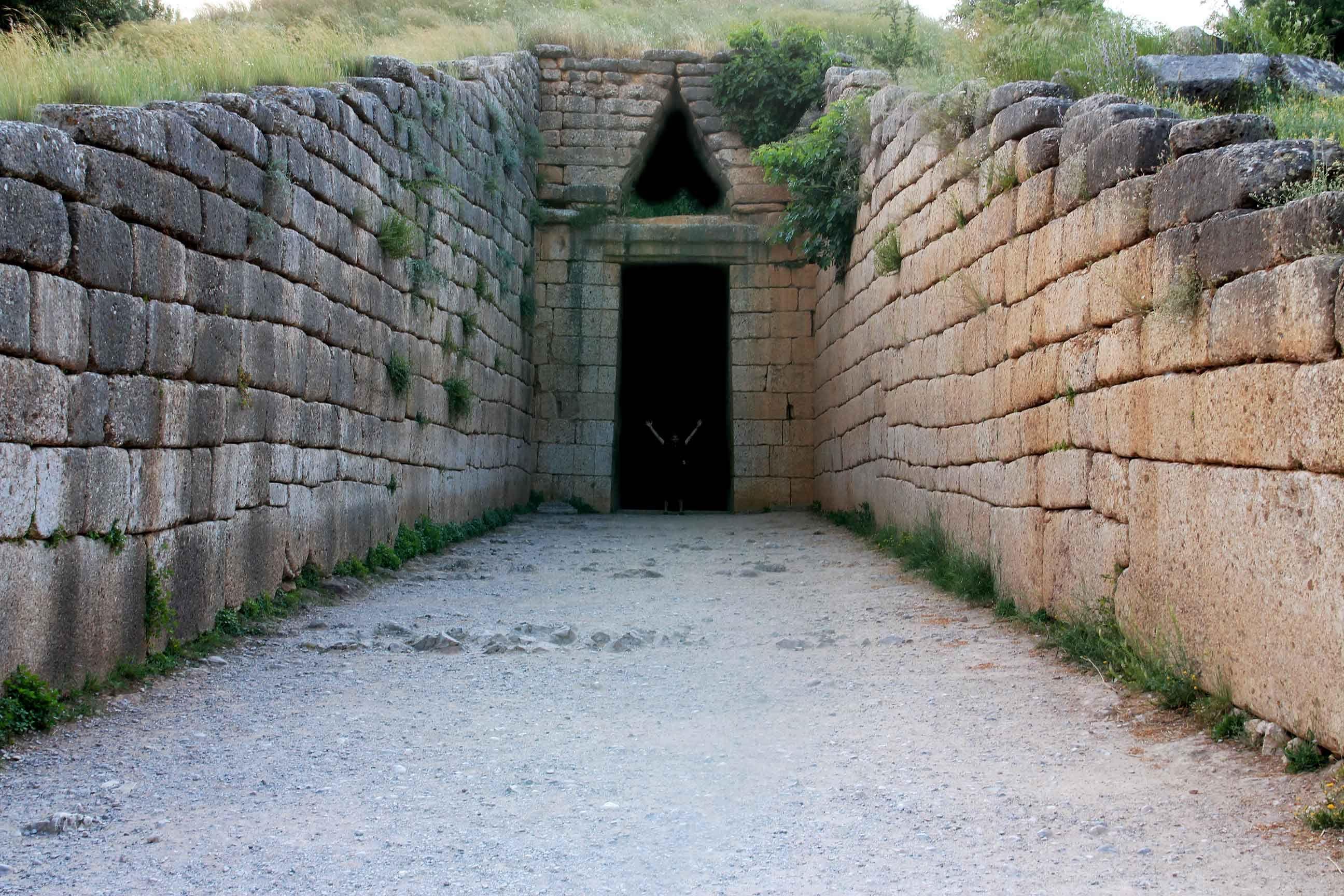 Jour 8 tr sor d 39 atr e ou tombeau d 39 agamemnon myc nes for Porte grecque