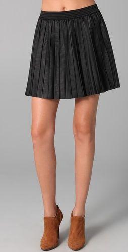 Free People  Vegan Leather Pleated Skirt  $148.00