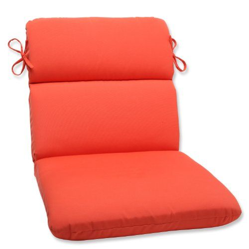 Pillow Perfect Rounded Corners Chair Cushion With Melon Sunbrella Fabric Visit The Image Round Chair Cushions Lounge Chair Cushions Outdoor Chair Cushions