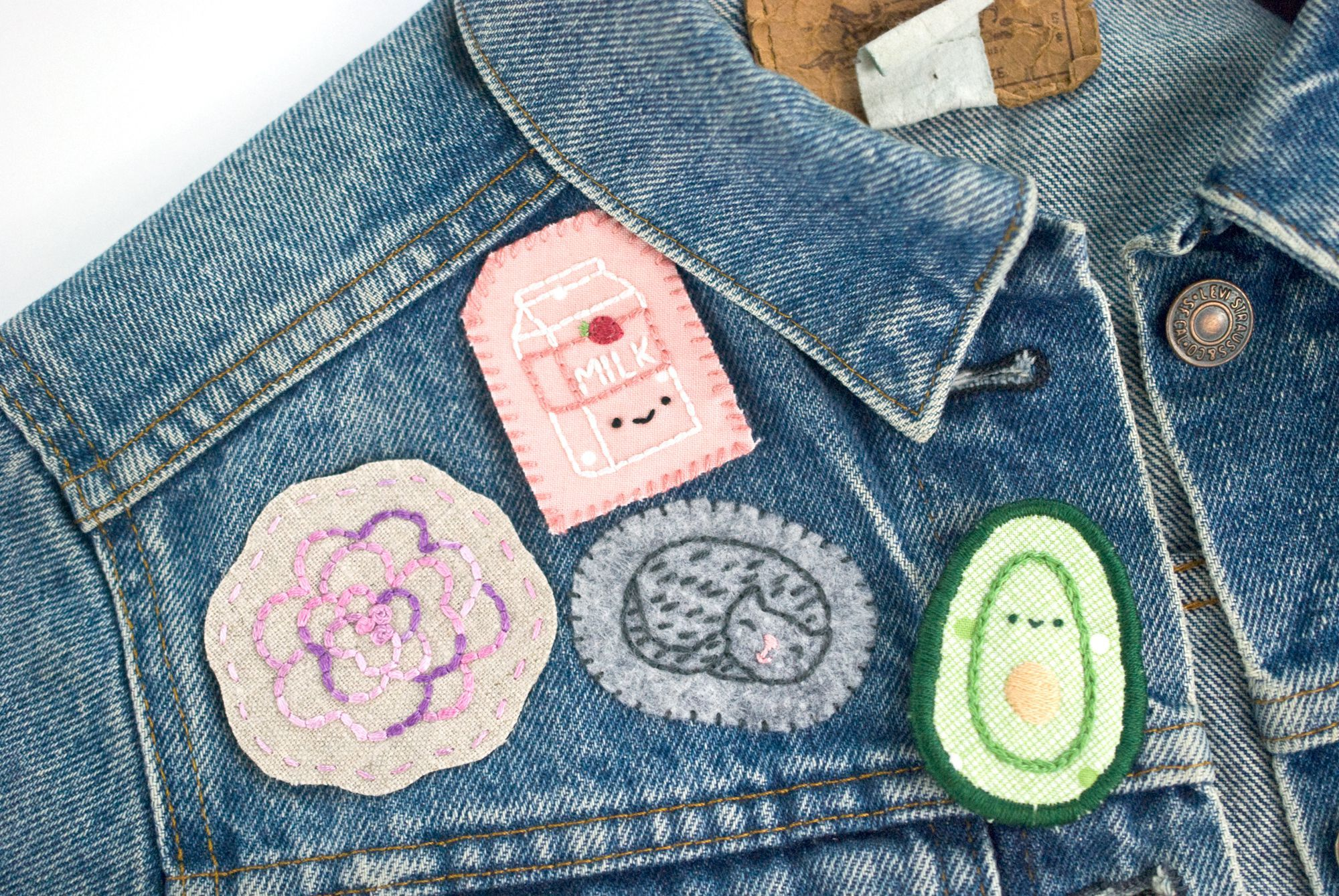 4 Ways To Make Your Own Hand Embroidered Patches Embroidered Patch Diy Embroidery Stitches Tutorial Diy Patches Embroidery
