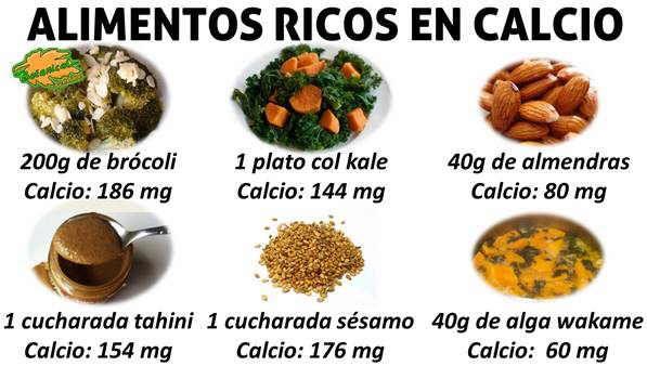 Alimentos muy ricos en calcio s samo tahini col kale br coli alga wakame y algas almendras - Alimentos que tienen calcio ...