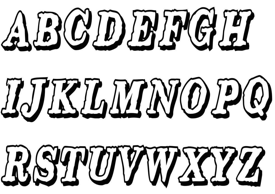 Buchstaben ausmalen: ✎ Alphabet Malvorlagen A-Z | Alphabet ...