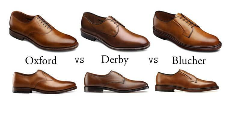 Derby Shoe Vs Oxford Vs Blucher Guide To Men S Shoe S When Where To Wear Each Mens Derby Shoes Mens Business Casual Shoes Derby Shoes