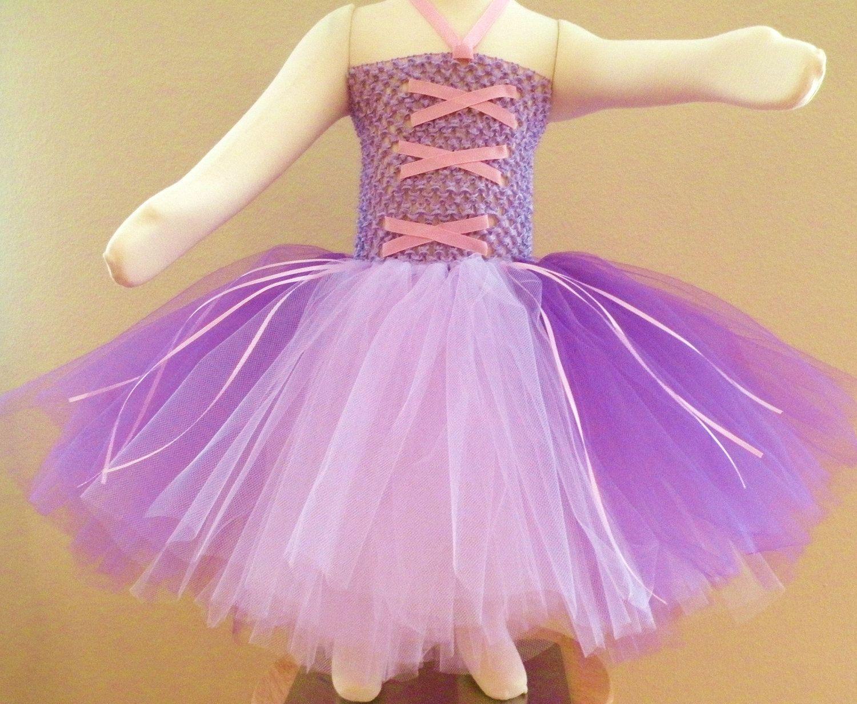 Rapunzel inspired Tutu Dress and Headband Set by APocketfulofBows, via Etsy.