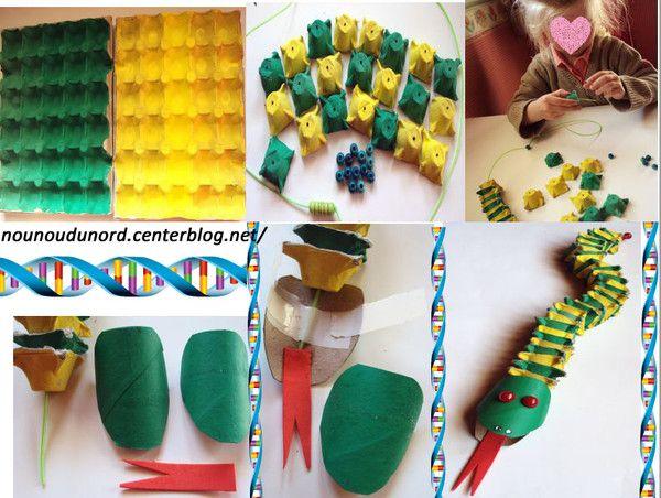 Super serpent boite à oeufs | KIDS | Pinterest | Serpent, Boite et Activité BL22