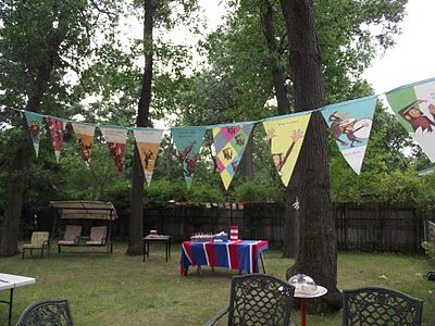 book pennant/banner