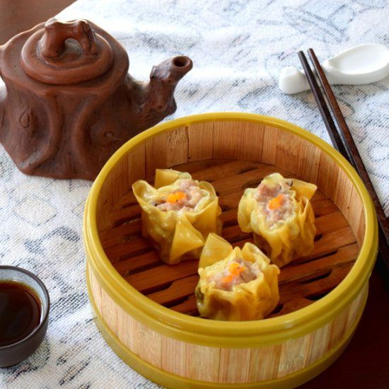 Cantonese Shumai- perfect for breakfast with Chinese tea.
