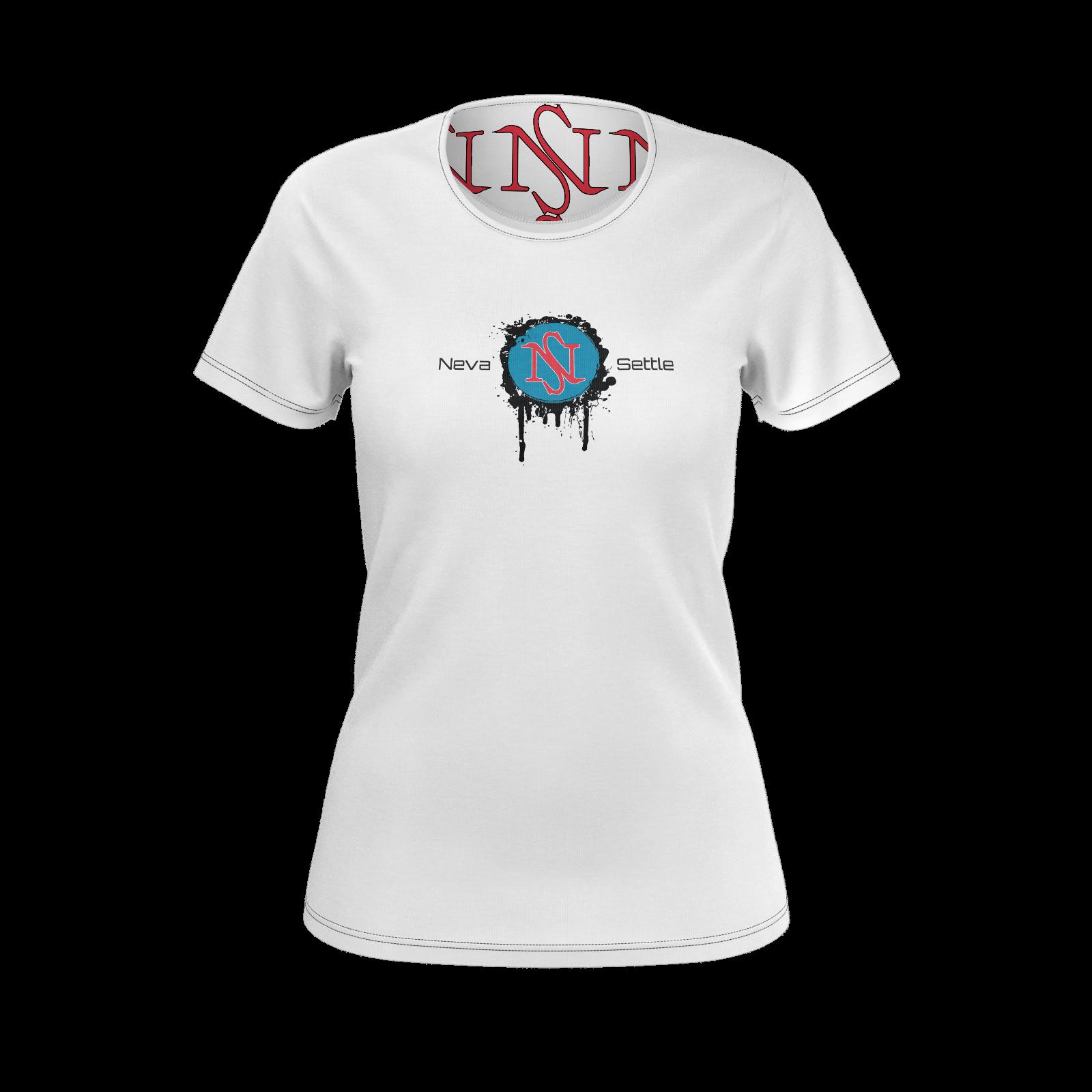 NS Neva Settle Logo Ink Spot Ladies Pima Tshirt (matching