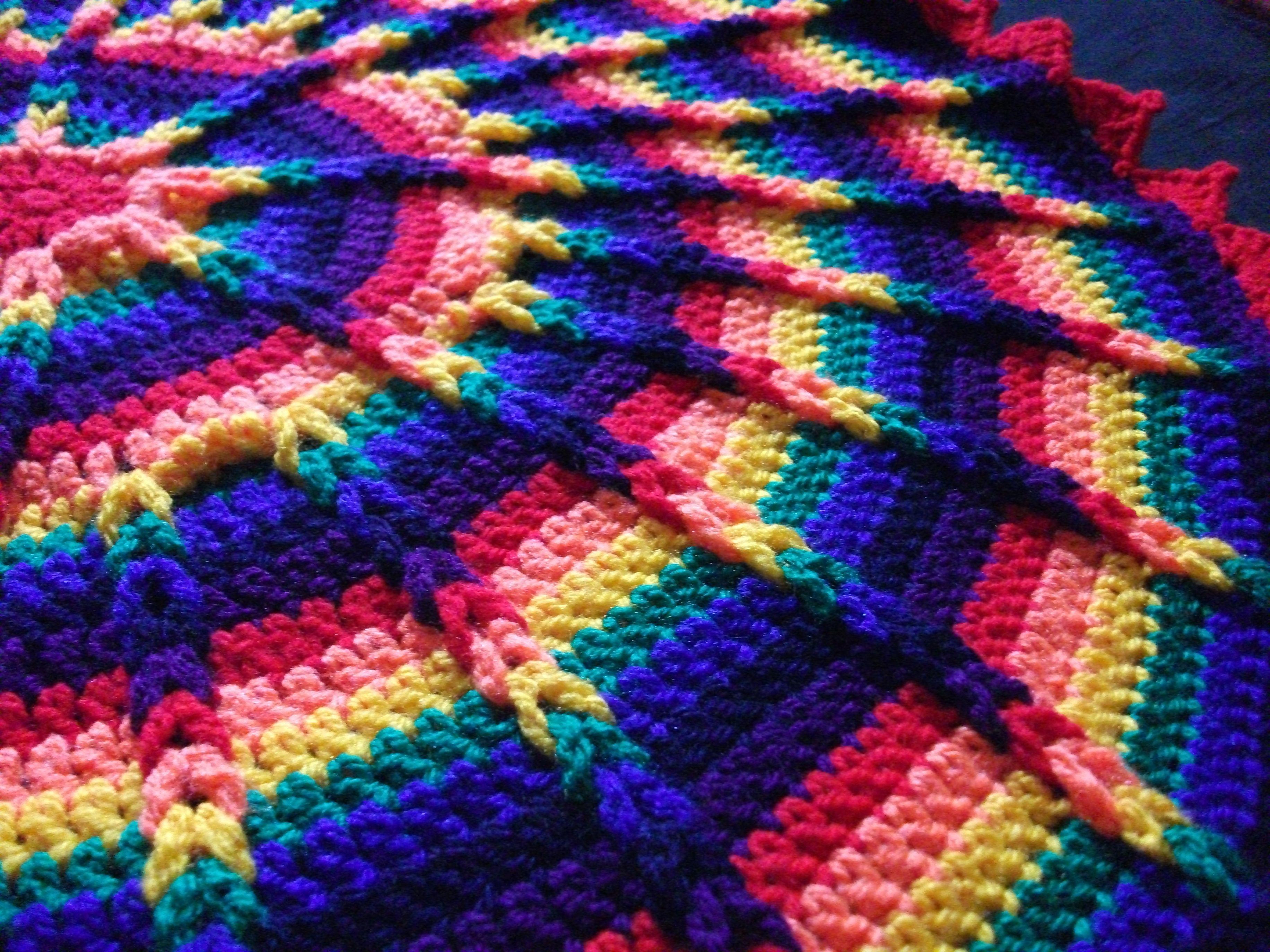 Crochet rainbow round jacobs ladder blanket crochet goodness crochet rainbow round jacobs ladder blanket bankloansurffo Images