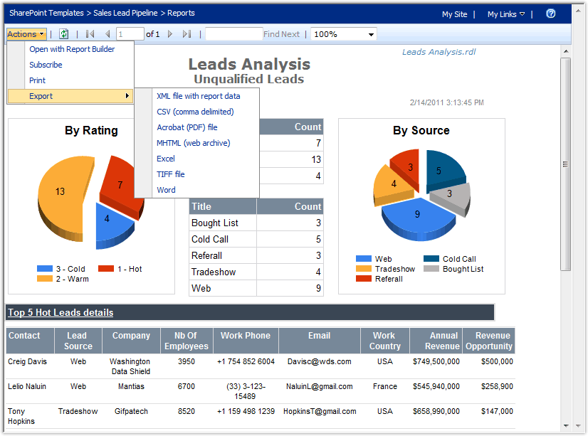Passing URL report parameters to Reports in SharePoint