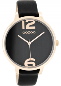 OOZOO Timepieces Rose Gold Black Leather Strap C7904  sales  style  fashion 9bcb4f963e3