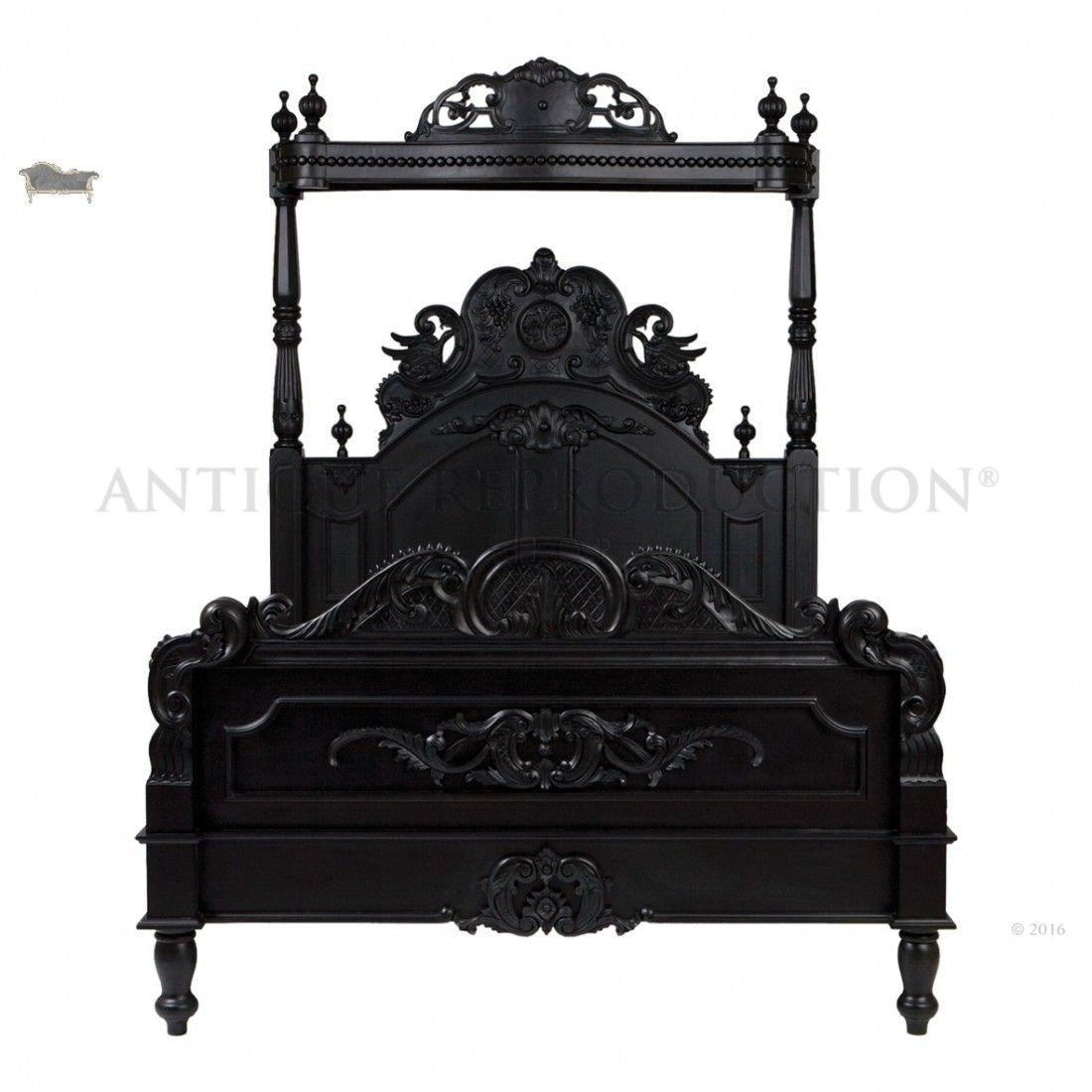 Light Brown B Pc King Poster Queen White French Heavy Gothic Victorian Canopy Bed Black