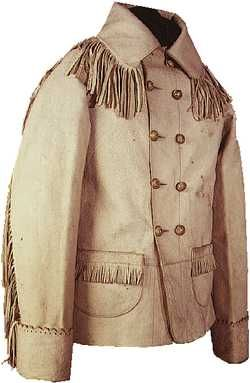 George Armstrong Custer's buckskin coat, about 1875 On June 25, 1876, Custer and many of his men were killed by an alliance of Sioux and Cheyenne at the Battle of Little Bighorn in Montana. The media painted him as a martyr, although many saw Custer's decision to attack a massive Indian encampment with his outnumbered regiment as a foolhardy rather than valiant maneuver.