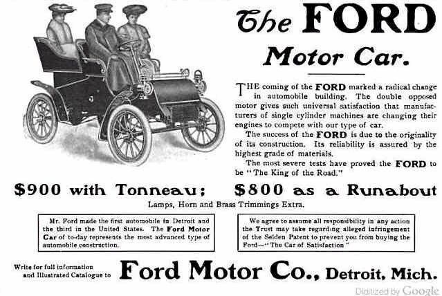 july 15 1903 the recently formed ford motor company takes its first order from chicago dentist. Black Bedroom Furniture Sets. Home Design Ideas