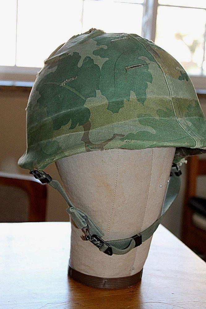 d28f6e24e930be Original Vietnam Era M1 Helmet & Liner & Camo Cover distressed ...