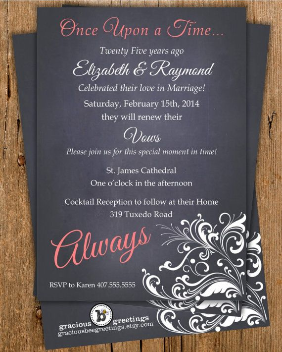 25th wedding anniversary invitations wording classic20black now comes in the 2014 pantone color of the year radiant orchid stopboris Images