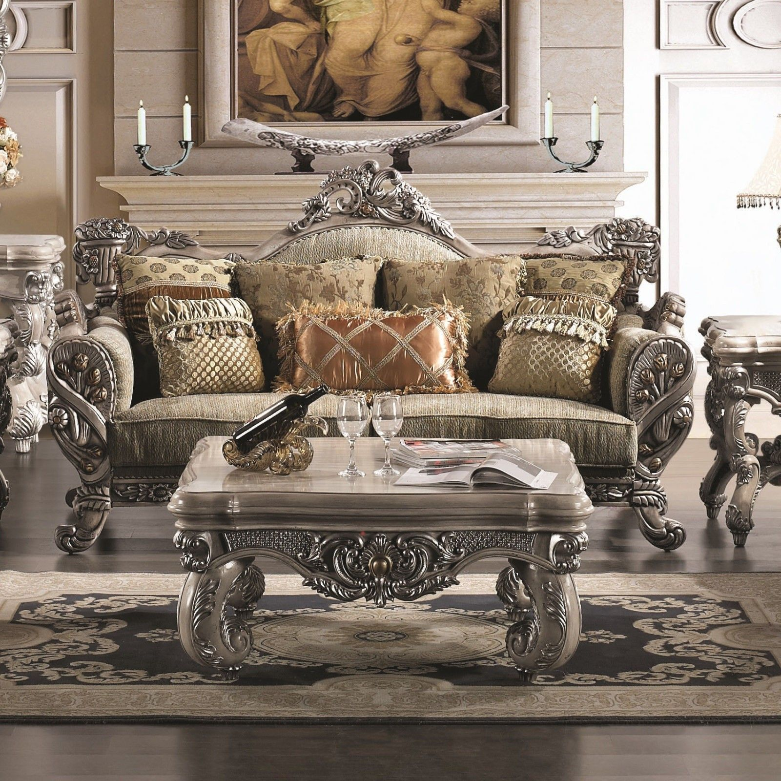 Formal Traditional Living Room Sets: Luxury Traditional Sofa Set Formal Living  Room Furniture