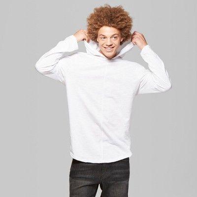 "4087c0f3d Men's Long Sleeve Curved Hem Hooded T-Shirt - Original Useâ""?20Black S # Sleeve, #Curved, #Men"