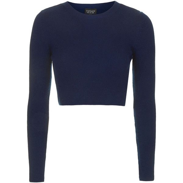 Topshop Ribbed Crop Top 20 Liked On Polyvore Featuring Tops