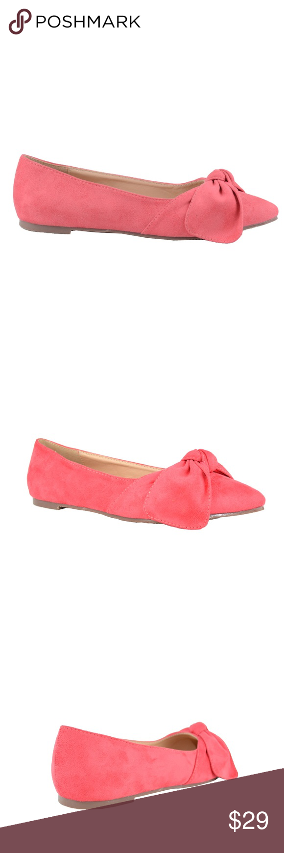 a0be46765a Women s Mauve Suede Flat Ballet With Bow Detail Pointy Toe with Bow Details  Approx.